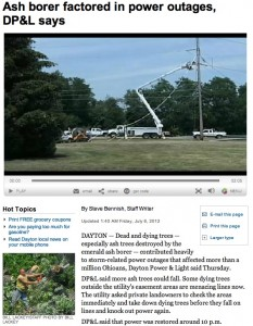 EAB Factor in Ohio Power Outage
